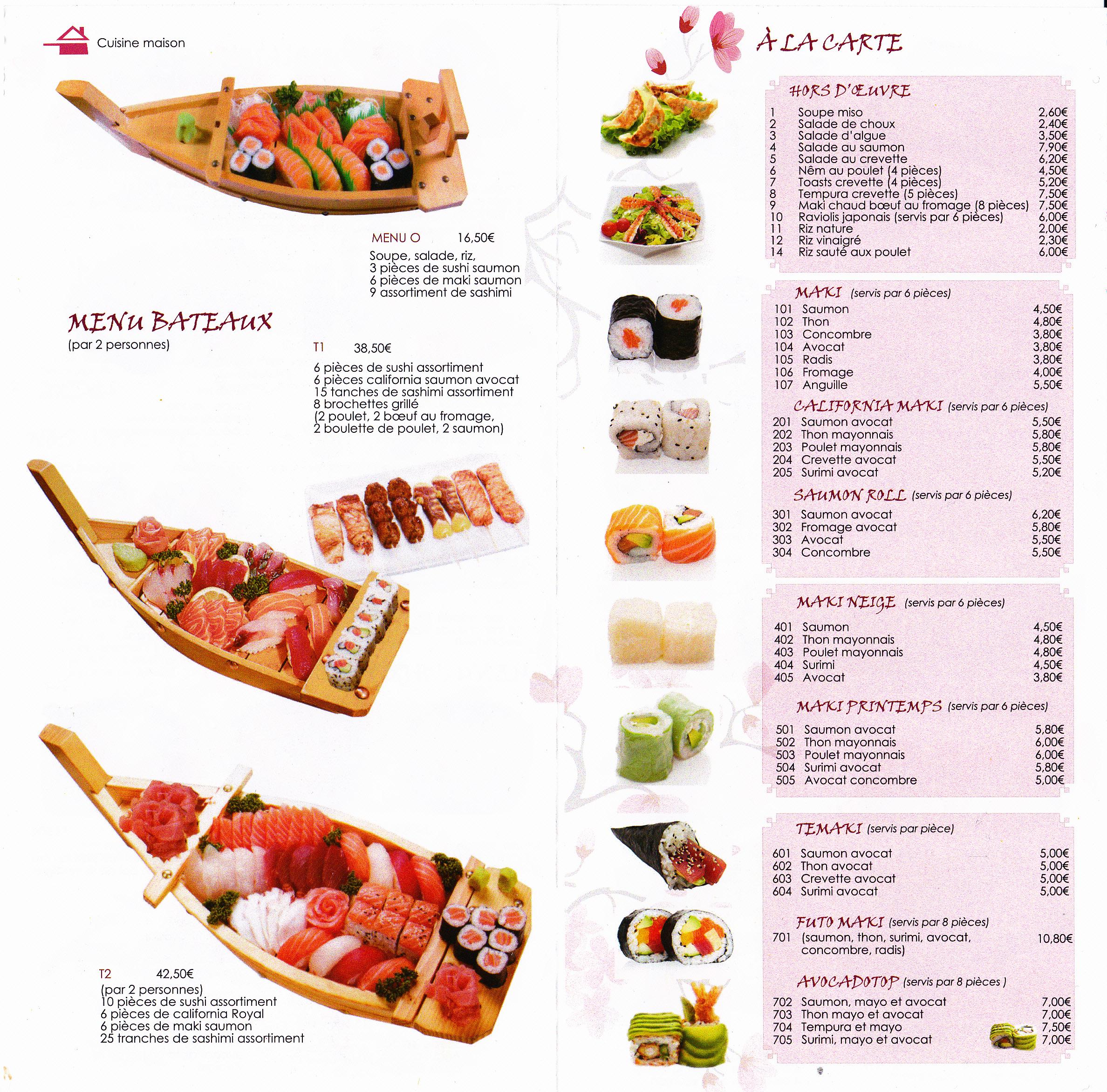 YE SUSHI-Restaurant Japonais 8 Dijon livraison à domicile plat