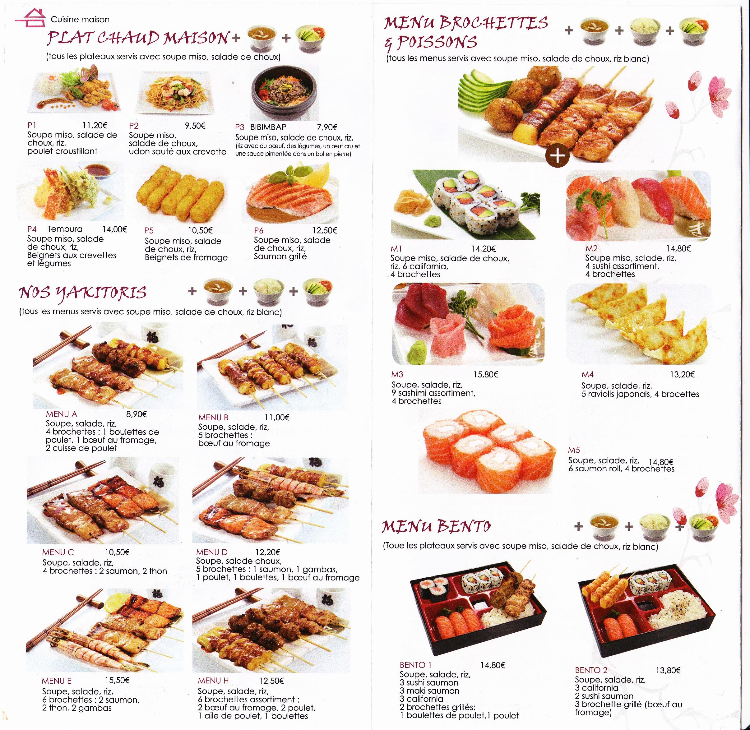 YE SUSHI-Restaurant Japonais 9 Dijon livraison à domicile plat